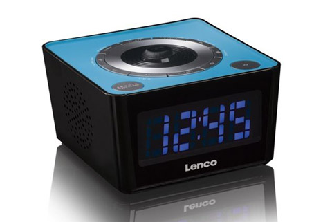 Lenco CR-16 FM clockradio with projector - Blue side
