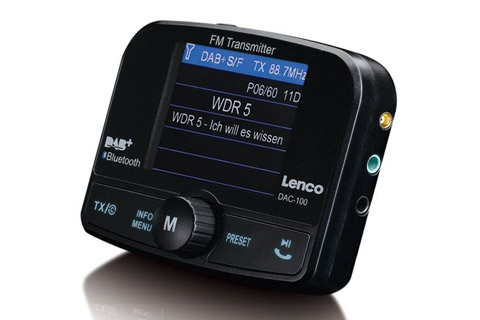 Lenco DAC-100 DAB+ Biladapter med Bluetooth - Side