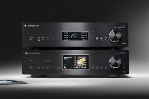 Cambridge Audio Azur 851A + 851N stereo system, black