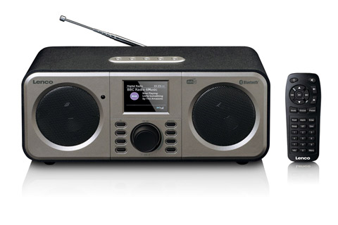 Lenco DAR-030BK FM and DAB+ clockradio