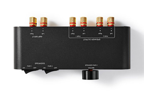 Nedis 2-way speaker switch box - Top