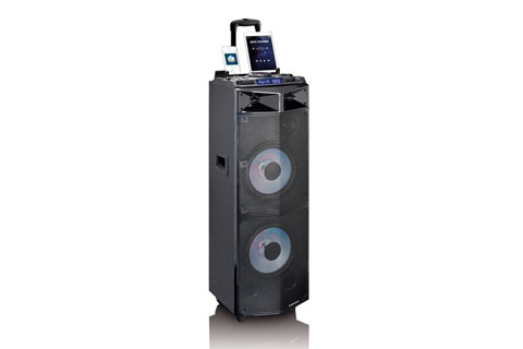 Lenco PMX-300 portable speaker with battery -  Front side