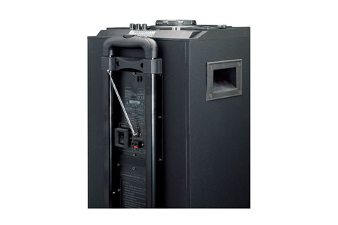 Lenco PMX-240 portable speaker with battery - Back