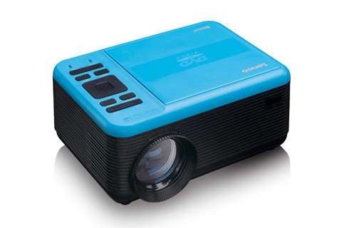 Lenco LPJ-500 projector with DVD player - Front open