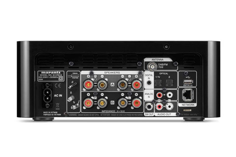 Marantz Melody X M-CR612 receiver, rear