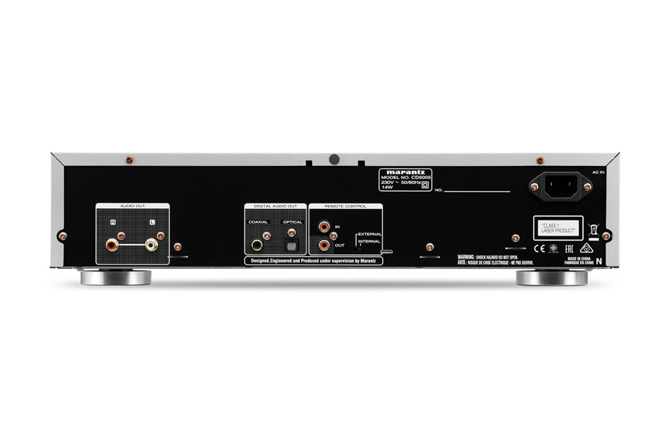 Marantz CD5005 CD player, rear