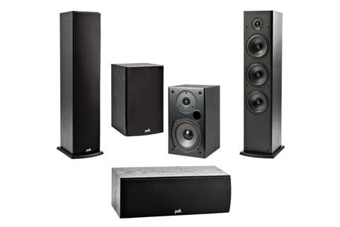 Polk Audio T-series surround speaker system - 5.0