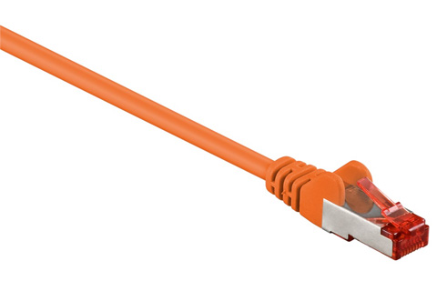 Network cable, Cat 6 S/FTP, orange