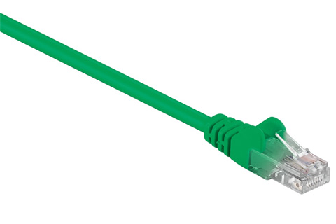 Network cable, Cat 5e UTP, green
