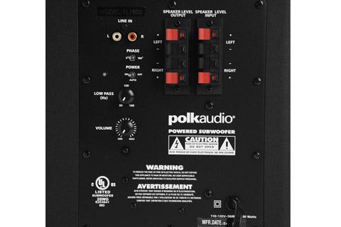 Polk Audio TL 5.1 surround speaker system - Subwoofer back