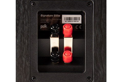 Polk Audio S55e bookshelf speaker - Black back
