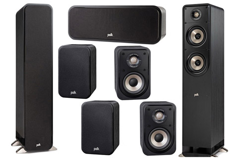 Polk Audio S-series 7.0 surround speaker set, black