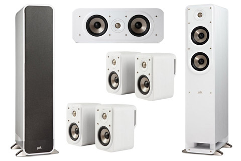 Polk Audio S-series 7.0 surround speaker set, white