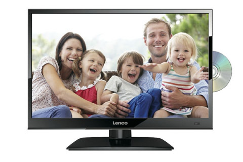 Lenco DVL-1662 16'' HD LED TV med indbygget DVD, 12V + 230V, sort