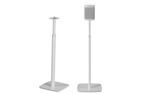 Flexson Justerbar gulvstand til Sonos One/SL/Play:1, Hvid