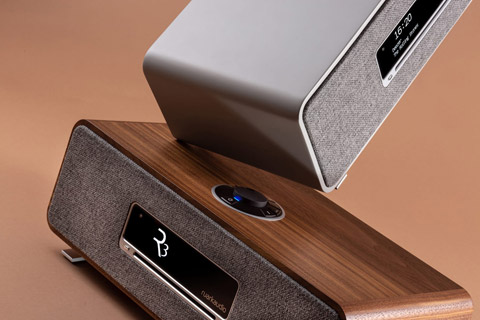 Ruark Audio R3 music system table top FM/DAB+ internet radio with bluetooth - Walnut and Grey