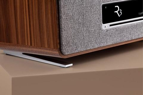 Ruark Audio R3 music system table top FM/DAB+ internet radio with bluetooth - Walnut feet