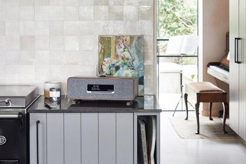 Ruark Audio R3 music system table top FM/DAB+ internet radio with bluetooth - Grey lifestyle