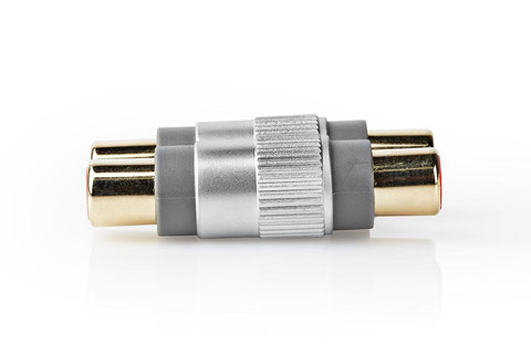 Stereo phono extention adaptor (2x Phono RCA female - female)