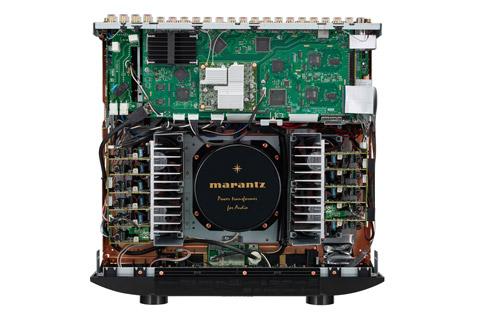 Marantz SR8015 surround receiver, inside