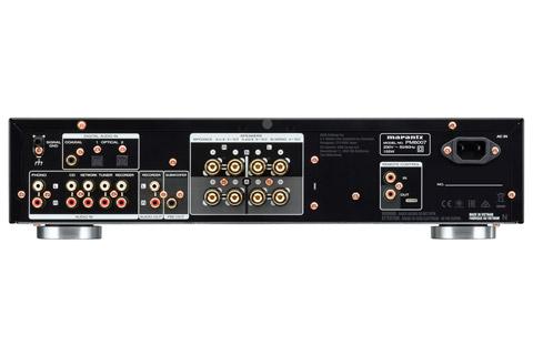 Marantz PM6007 stereo amplifier, rear