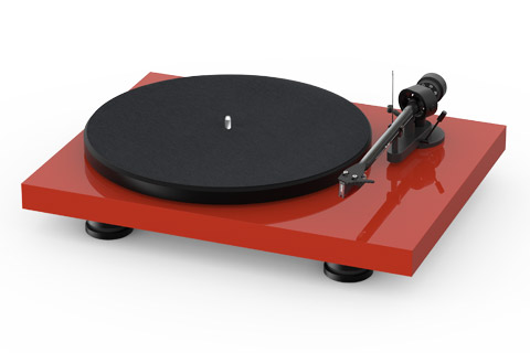 Pro-Ject Debut Carbon EVO recordplayer, high gloss red