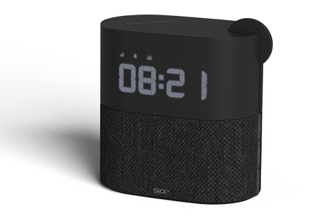 SACKit WAKEit clockradio, black
