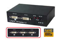 Lindy 4-way DVI splitter