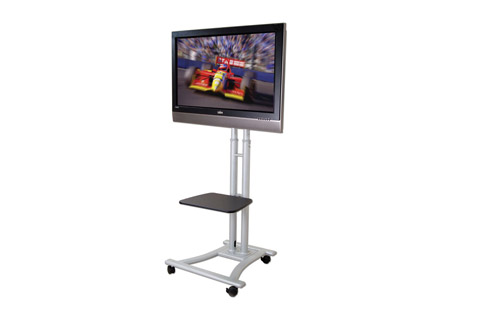 Lindy single display trolley mount with shelf, max 50 kg