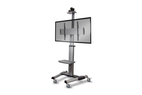 Lindy single display heavy-duty trolley mount, max 50 kg