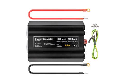 12V - 230V~ Power inverter, Schuko, 1000W