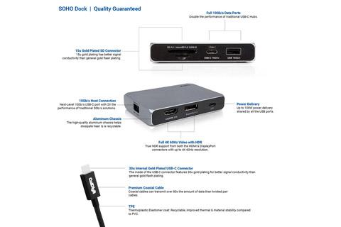 CalDigit USB-C SOHO dock - Specs