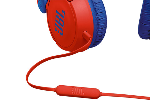 JBL JR310 headphones, red