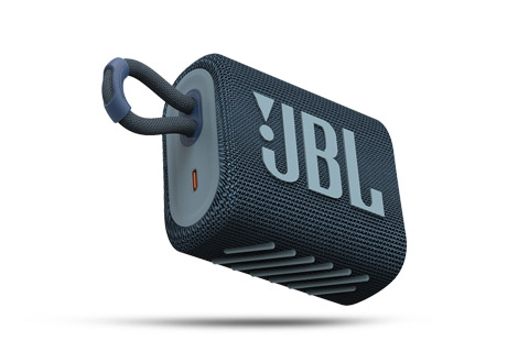 JBL GO3 bluetooth speaker, blue