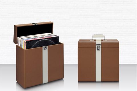 Lenco TTA-300BUWH Record storage suitcase, max. 30 records -  Brown