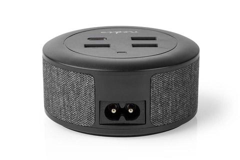 Nedis desktop charger with USB-A, USB-C og PD(18W) - Back