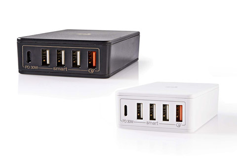 Nedis Nedis 4-way USB-C/USB-A charger (3A/30W)