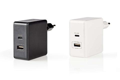 Nedis 2-way USB-C/USB-A charger (2,4A/45W)