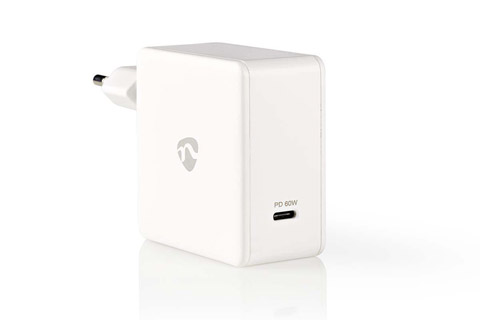 Nedis USB-C charger with Power Delivery (3A/60W) - White