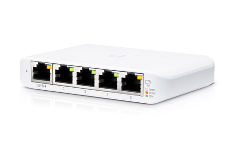 Ubiquiti UniFi Flex Mini network switch (5 port) - Side