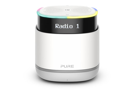 Pure StreamR radio with bluetooth, grey