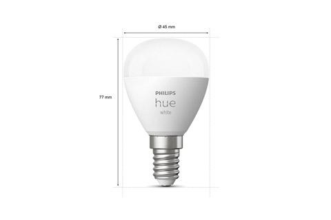 Philips Hue White E14 LED small bulb - Size
