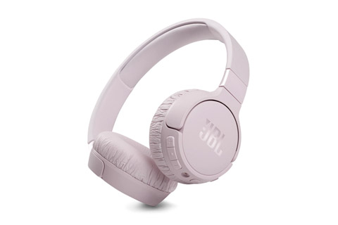 JBL Tune 660NC on-ear headphones, pink