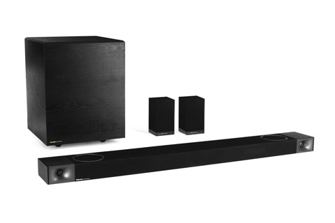 Klipsch Cinema 1200 soundbar with subwoofer and surround speakers, black