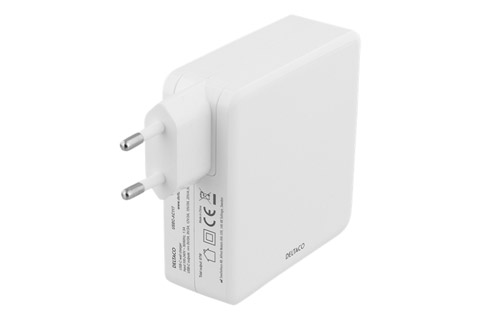 Deltaco USB-C charger with Power Delivery (4,35A/85W)