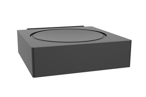 Cavus horizontal wall bracket for Sonos AMP - Front