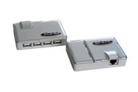 Smart USB 1.1 forlænger via netværkskabler. Forlængeren har indbygget Hub, så der kan sættes flere apparater til, f.eks. printer, mus og tastatur.