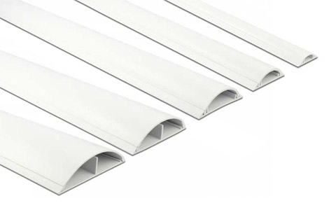 DeLock self-adhesive plastic cable ducts, white