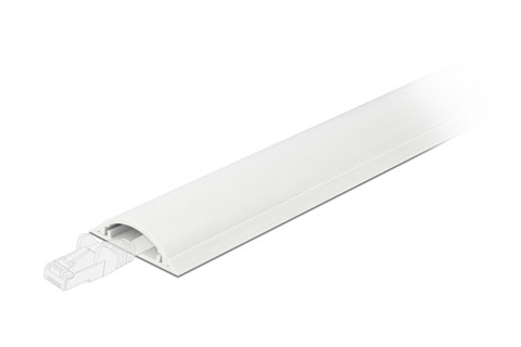 DeLock self-adhesive plastic cable ducts, 30 x 8