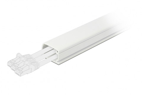 DeLock self-adhesive plastic cable ducts
